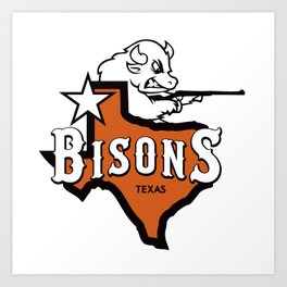 Bisons Ultimate actual team logo official gears Art Print