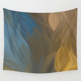 Blue Fire Abstract 1001 Wall Tapestry