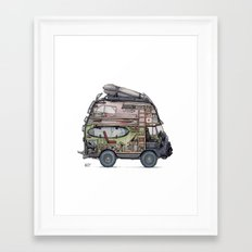 Dream Van - interior view Framed Art Print