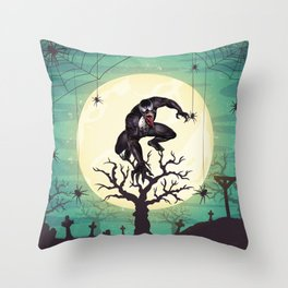 The Devil Nightmare Throw Pillow