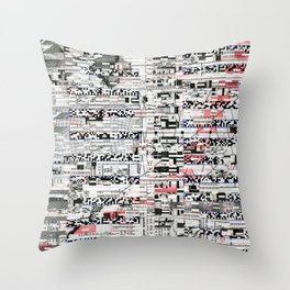 Pack Mule (P/D3 Glitch Collage Studies) Throw Pillow