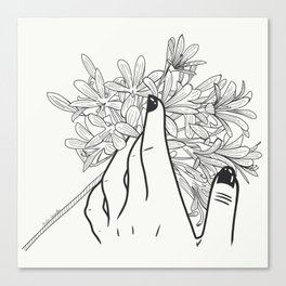 Touching Canvas Print