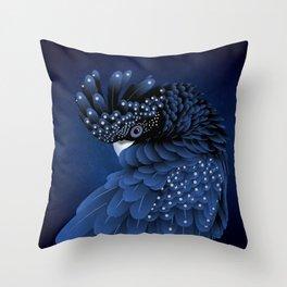 Australian Black Cockatoo Portrait Throw Pillow