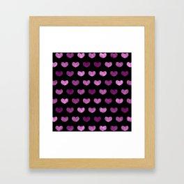 Colorful Cute Hearts VI Framed Art Print