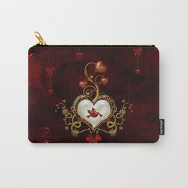 Wonderful hearts with dove Carry-All Pouch