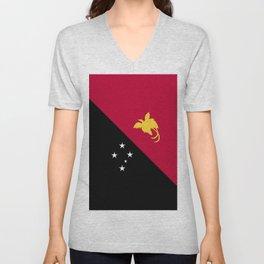 Papua New Guinea flag emblem Unisex V-Neck