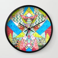 quilt Wall Clocks featuring Geometric Quilt by Sandra Arduini