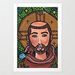 Francis of Assisi Art Print