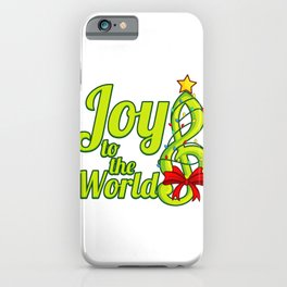 JOY TO THE WORLD Music Family Christmas Gift iPhone Case