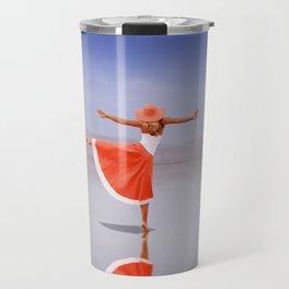 Ballerina Dancing On The Beach Travel Mug