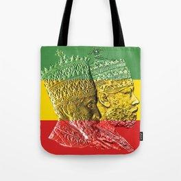 Haile Selassie King Menelik Tote Bag