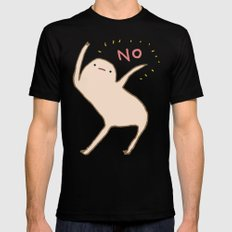 Honest Blob Says No MEDIUM Black Mens Fitted Tee
