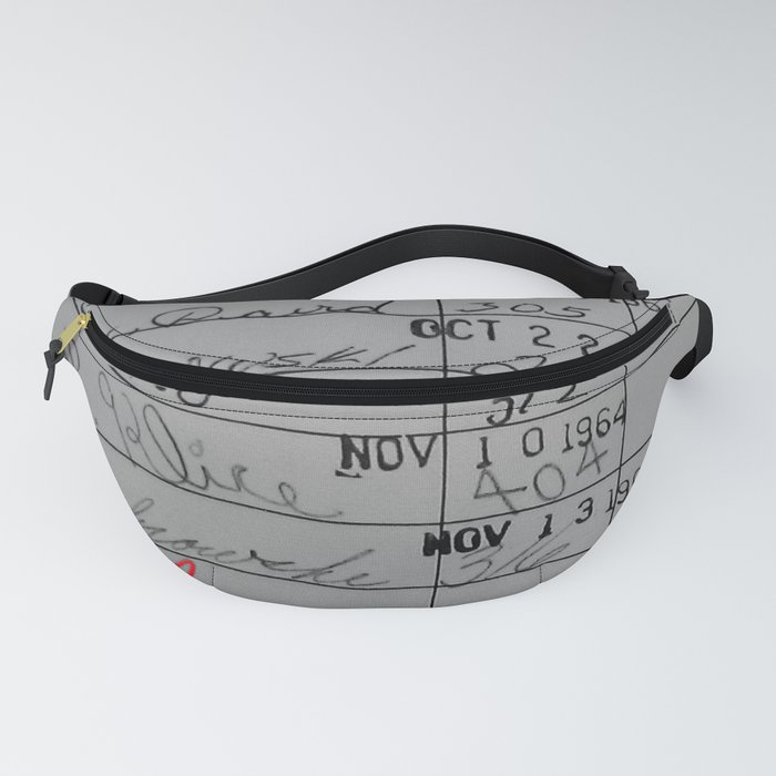 Library Card 23322 Gray Fanny Pack