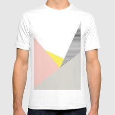 Minimal Complexity V.5 LARGE White Mens Fitted Tee