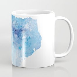 Texas Map Coffee Mug