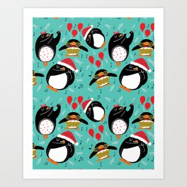Eleven Pipers Piping Art Print