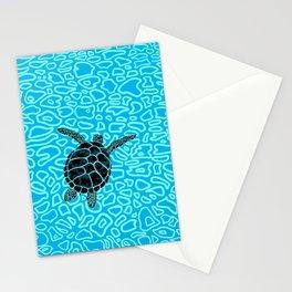 Sea Turtle by Black Dwarf Designs Stationery Cards
