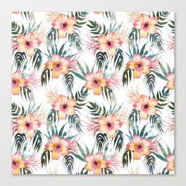 Honolua Tropic White Canvas Print