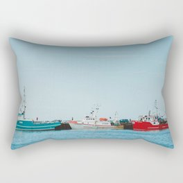 Boats and Turquoise sky Rectangular Pillow