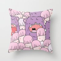 tits Throw Pillows featuring we love tits by Hugo Portinha