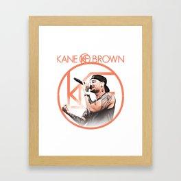 kane brown tour world 2018 Framed Art Print