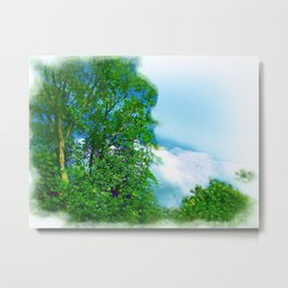 Air Brushed Skyscape Metal Print