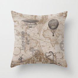 Gears of Flight Throw Pillow