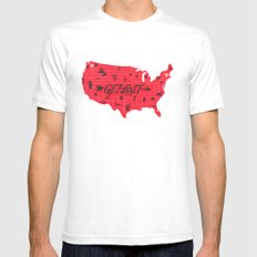 Get Lost White Mens Fitted Tee SMALL