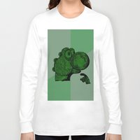 yoshi Long Sleeve T-shirts featuring Philosoraptor Yoshi by Triple_S_Art