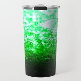 Emerald Green Ombre Crystals Travel Mug