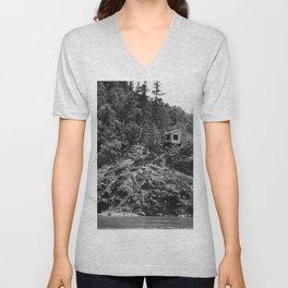 Spaatz-Eaker Mining Claim Cabin, Siskiyou National Forest, California, 1952 Unisex V-Neck