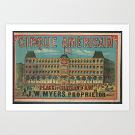 American Old sing Cirque Americain Art Print