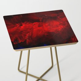 Red And Black Luxury Abstract Gothic Glam Chic by Corbin Henry Side Table