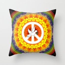 CND Peace and Love Throw Pillow