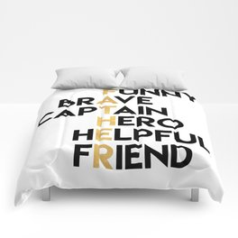 DEAR FATHER Fathers Day Quote Comforters