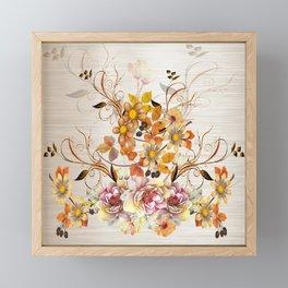 Fall Flower Centerpiece Framed Mini Art Print