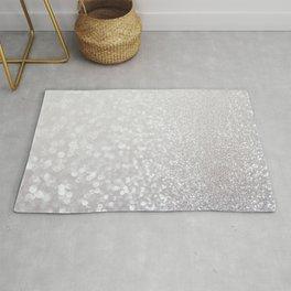 Silver ice - glitter effect- Luxury design Rug