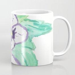 Purple Pansy Power Coffee Mug