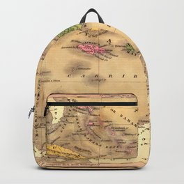 Map Of The Caribbean 1828 Backpack
