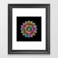 rainbow mandala Framed Art Print