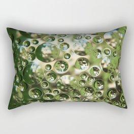Air bubbles in a glass texture Rectangular Pillow