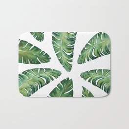 Tropical Banana Leaves #society6 #buyart Bath Mat