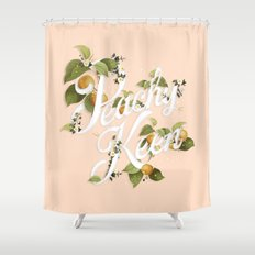 Peachy Keen : Peach Shower Curtain