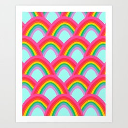 Rainbows Forever Art Print