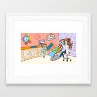 dentist Framed Art Prints featuring dentist  by LoLo ChaN