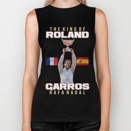 Rafa Nada The King of Roland Garros Biker Tank