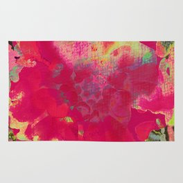 big abstract flower Rug