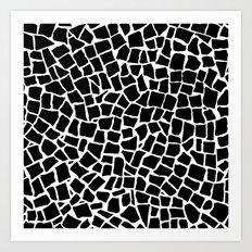 British Mosaic Black and White Art Print