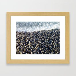 Stone Beach Framed Art Print