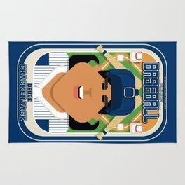 Baseball Blue Pinstripes - Deuce Crackerjack - Indie version Rug